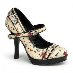 Zapato Pin Up Couture Secret 14